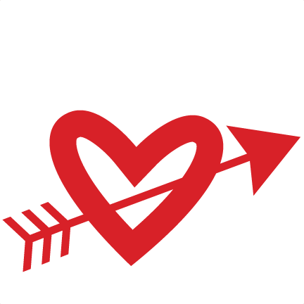 Arrow through scrapbook cut. And svg heart picture library stock