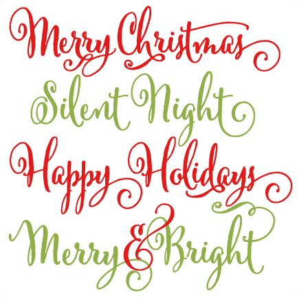 And svg merry christmas. Phrases scrapbook clip art