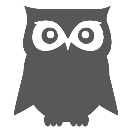 Stencil svg owl. Flat icon transparent png
