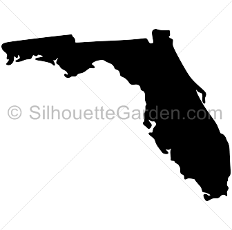 And svg silhouette. Florida