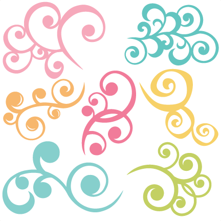 And svg swirl. Swirls set of files