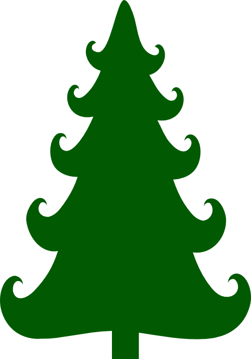 And svg tree. Curly branch christmas scrappin