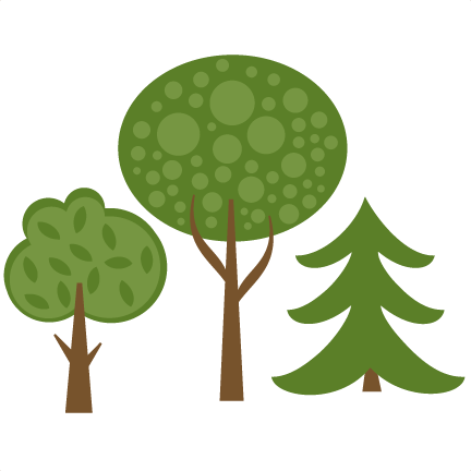 And svg tree. Set of trees cutting