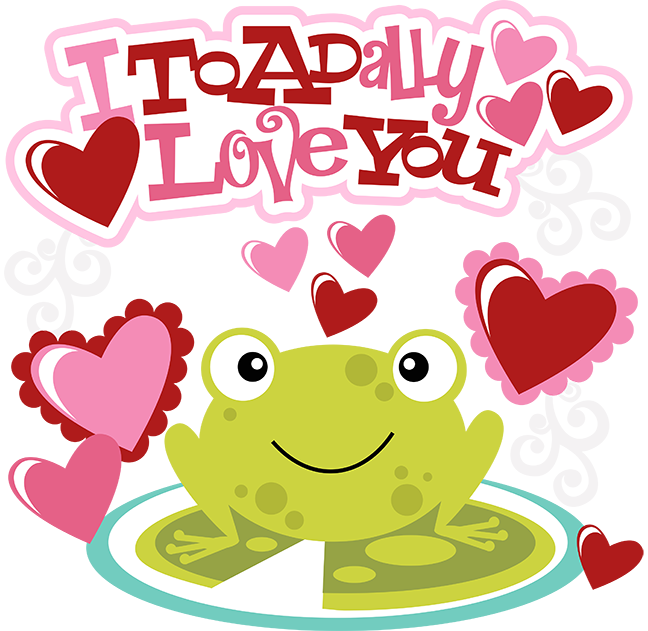 And svg valentines. I toadally love you