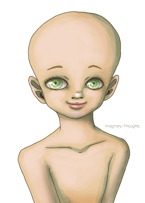 Androgynous drawing basic. Child base by imaginary