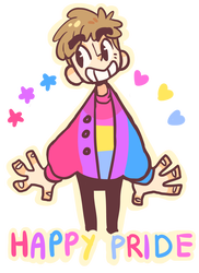 Androgynous drawing lgbtq pride. By nightmaw on deviantart