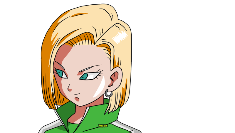 Android 18 png. Dragon ball super by