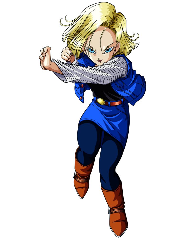 Android 18 png. Image under a dance