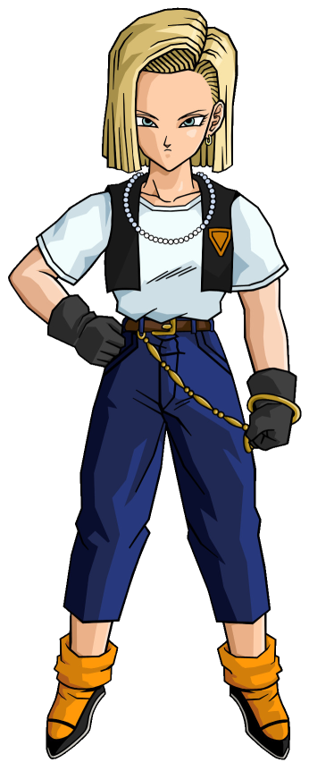 Android 18 png. Image alt outfit dragonball
