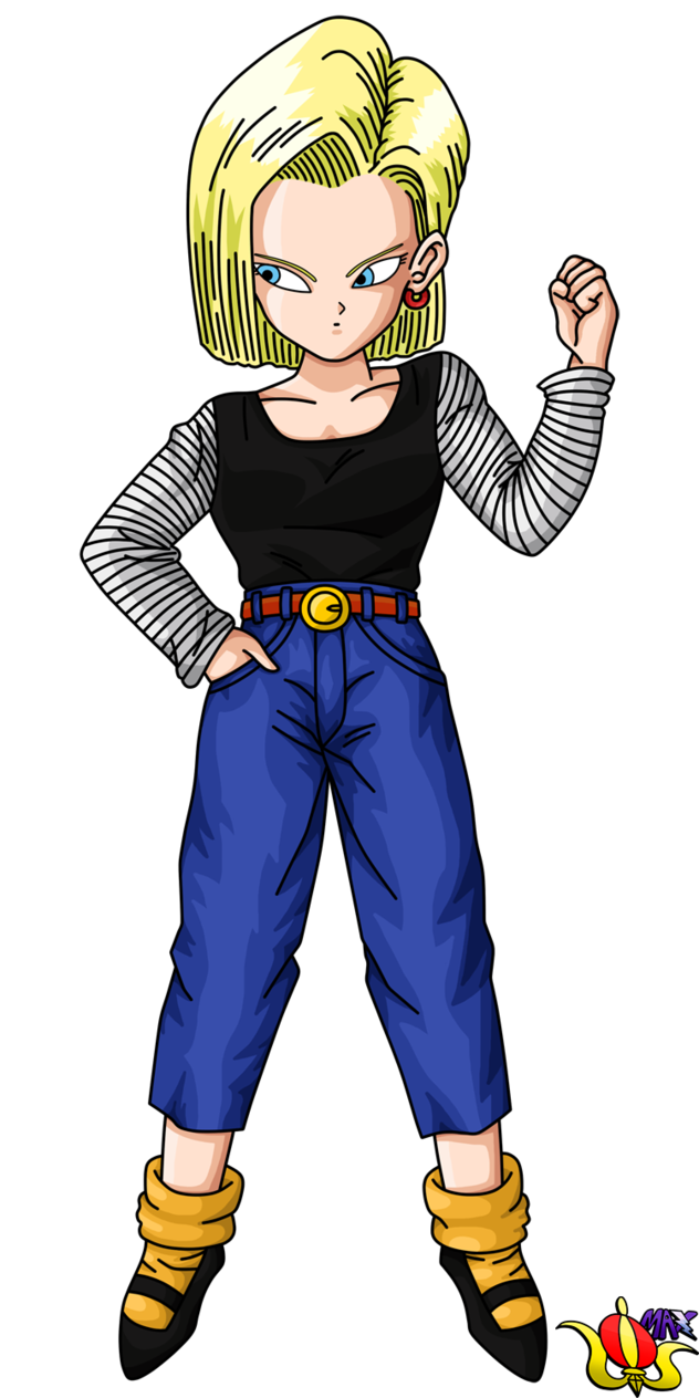 Android 18 png. Buu saga render by