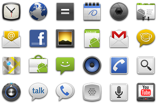 Android app icons png. What are the top