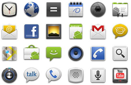 Android app icons png. Fresh and elegant