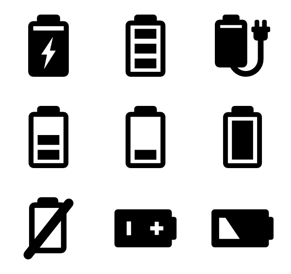 black battery symbol png