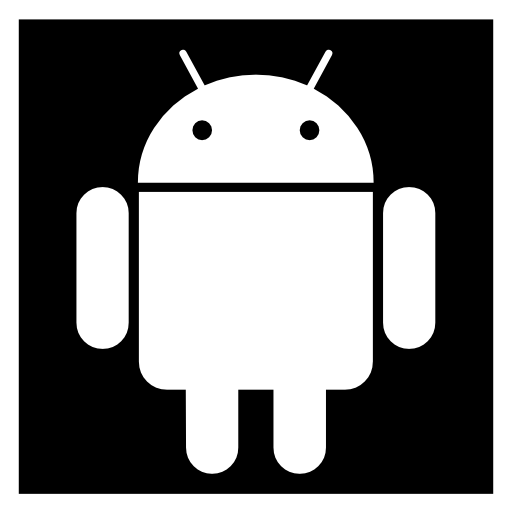 Android icon white png. Free logo download icons