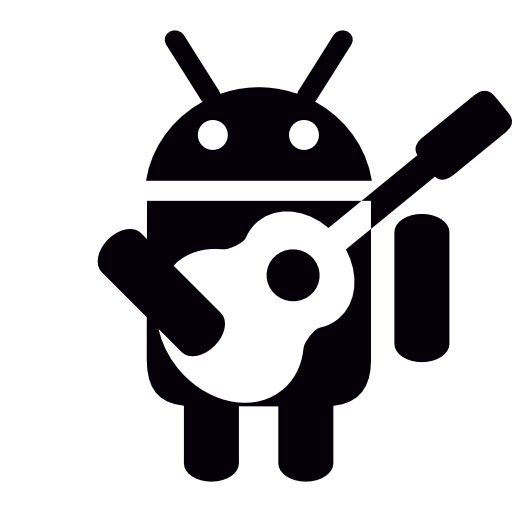 Android icon png white. With guitar free shapes