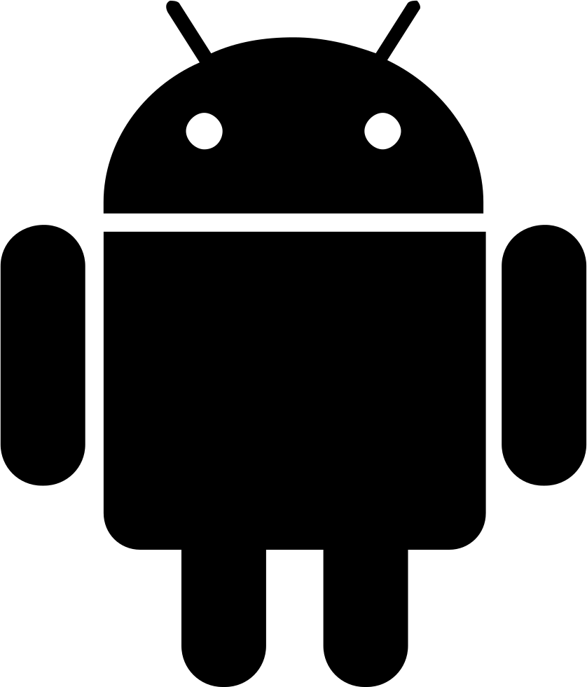 Android icon png white. Svg free download onlinewebfonts