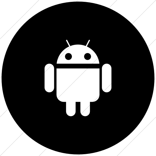 Android icon white png. Iconsetc flat circle on