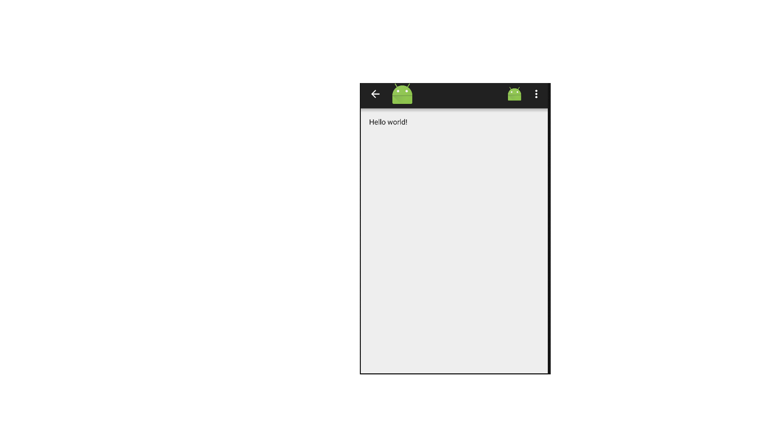 Action bar png. Icon for up in