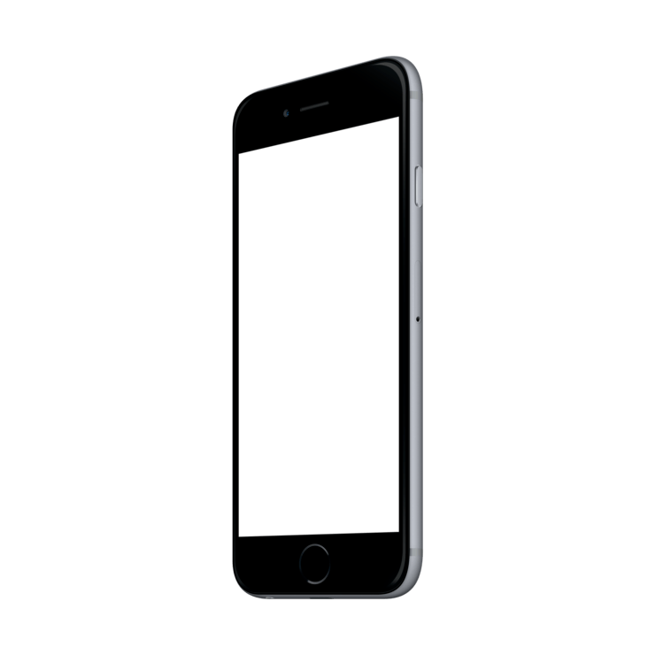 Android phone mockup png. Iphone space grey mock