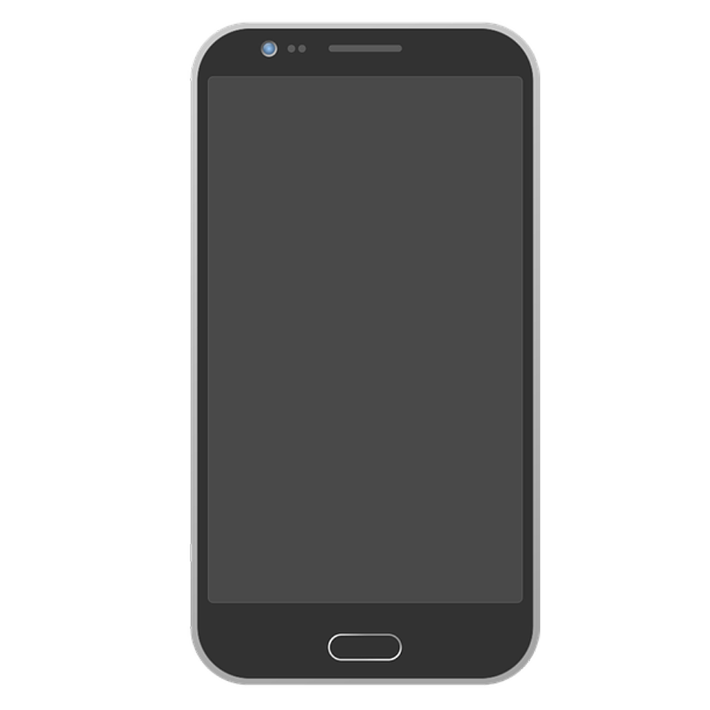 Android phone png. With transparent background free