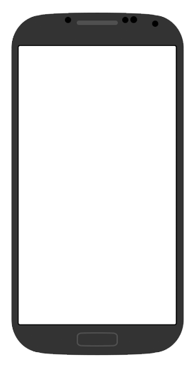 Android phone template png. Black galaxy s blank