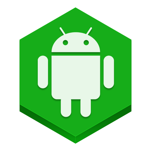 Robot logo icon. Android icons png free download banner transparent stock