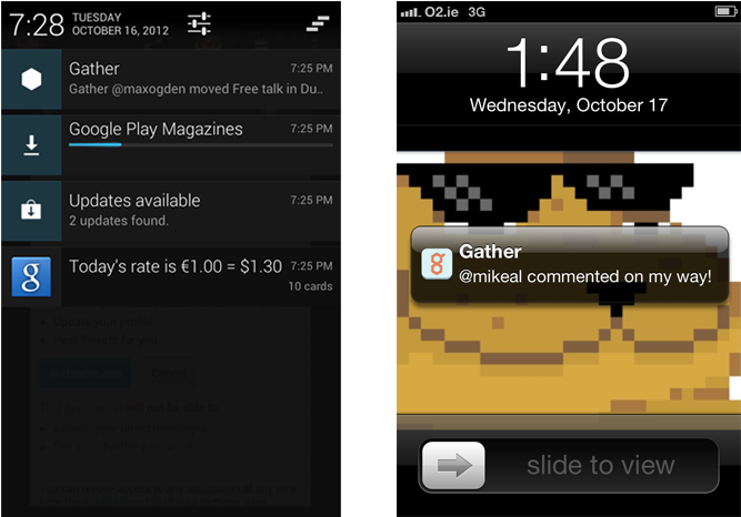 Android status bar png. Download the push notification