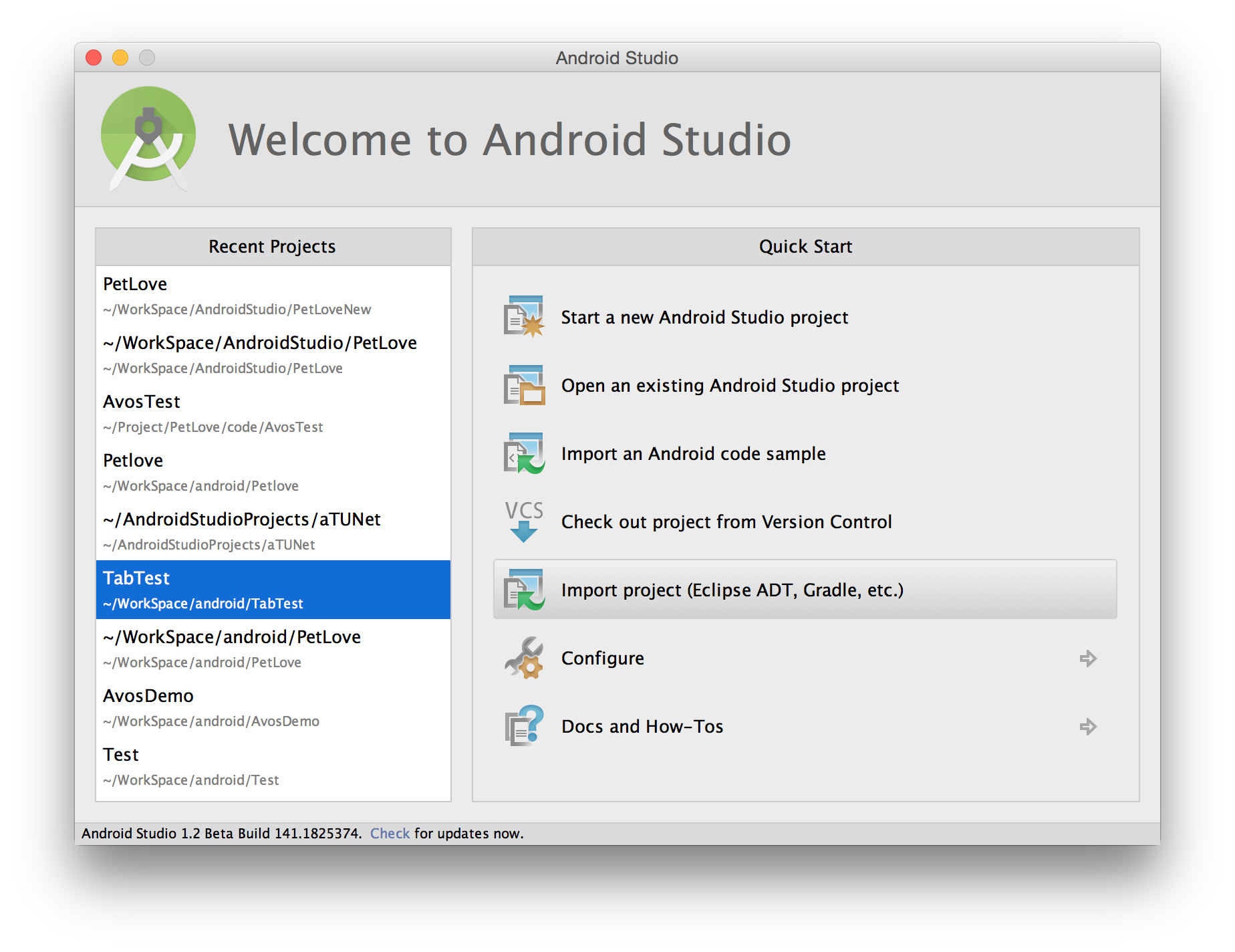 Android studio import png. Guide project into mulab