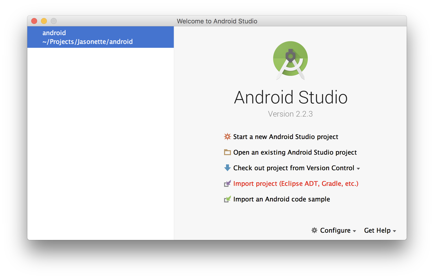 Android studio import png. Jasonette now launch