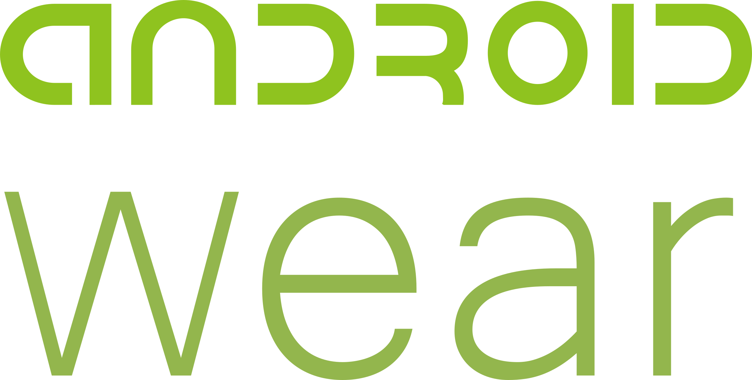 Android text png. Wear logo transparent svg