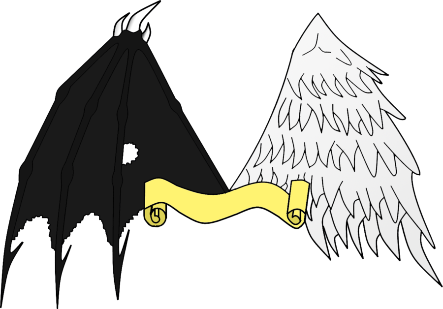 Angel and demon png. Wings by dante on