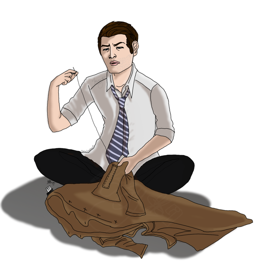 Angel blade supernatural png. Cas sewing his own