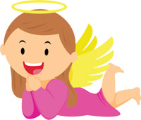 Free clip art pictures. Angel clipart image black and white download