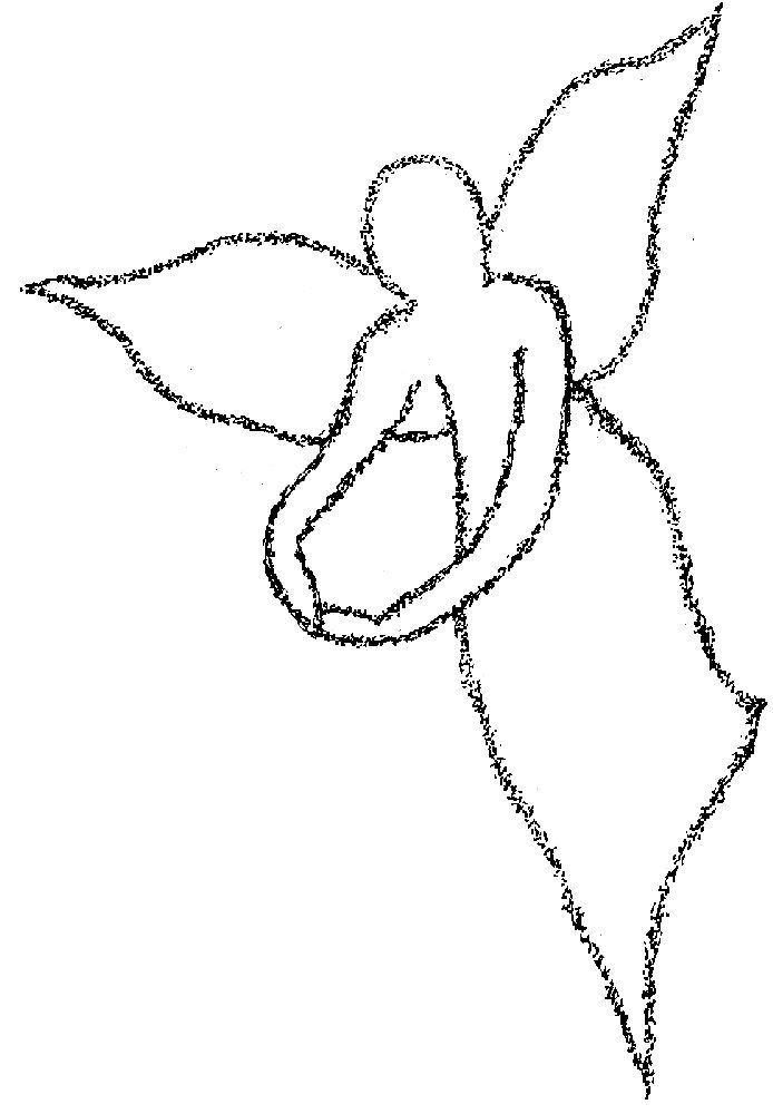 Angel clipart easy. Free black and white