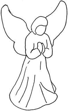 Angel clipart easy. Free pictures for kids
