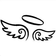 Angel clipart easy. To draw wings halo