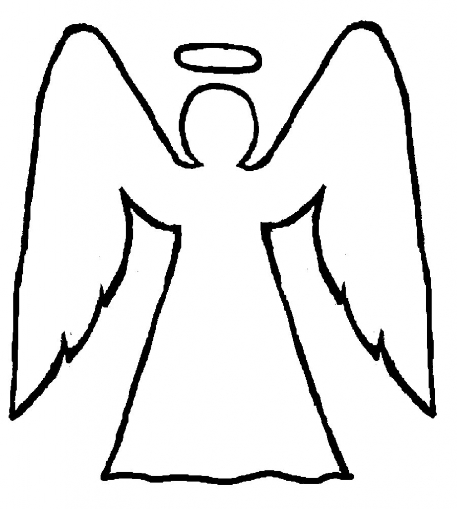 Angel clipart easy. How to draw angels