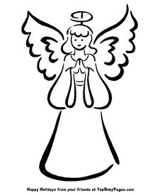 Angel clipart easy. Drawing of an at