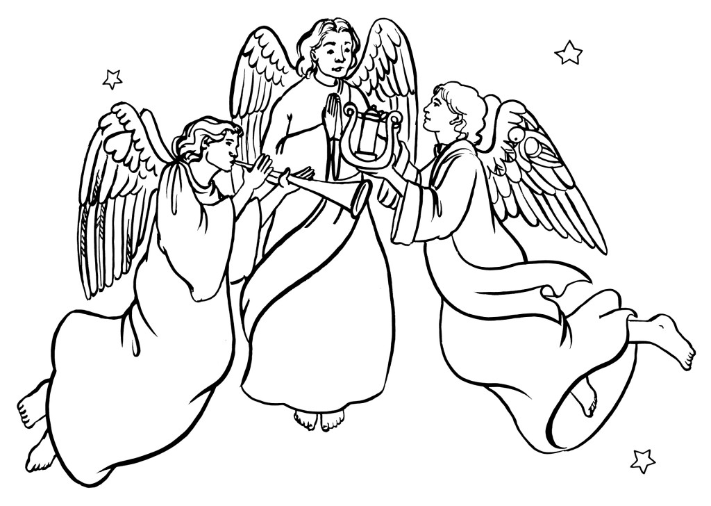 Angel clipart easy. Drawing at getdrawings com