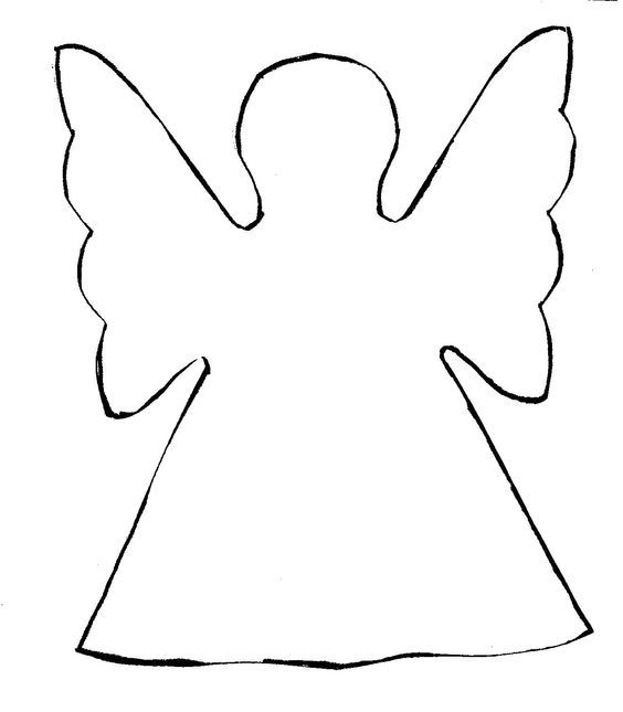 Angel clipart easy. Cut out paper angels