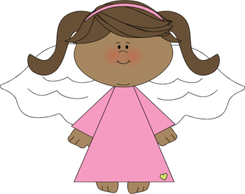 Angel clipart. African happy black angels