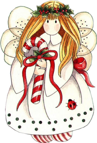 Angel clipart happy. Of a christmas new