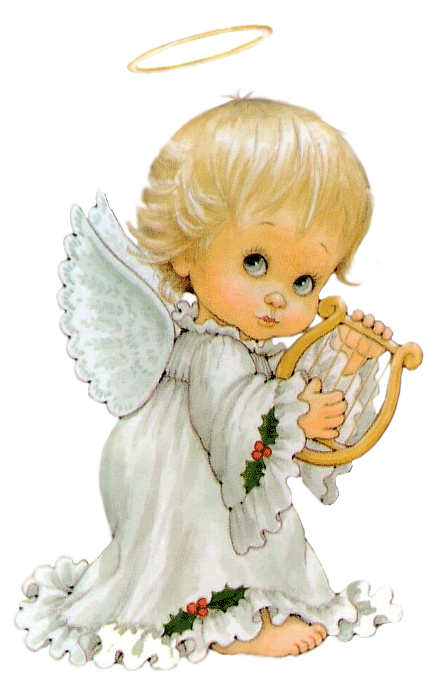 Baby angels images png. Cute angel with harp
