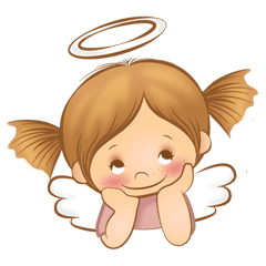 Angel girl png. Line stickers store