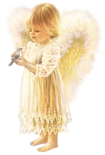 Angel girl png. Cute with bird picture