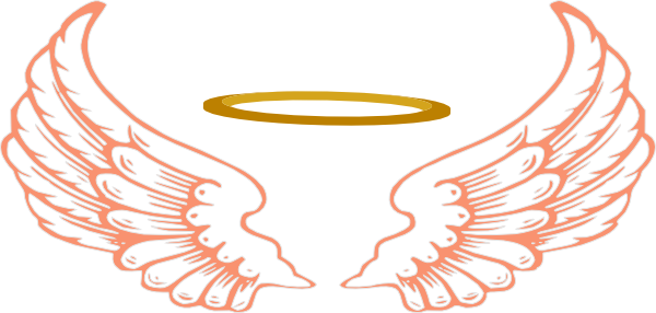 Angel halo wing png. Wings clipart mart