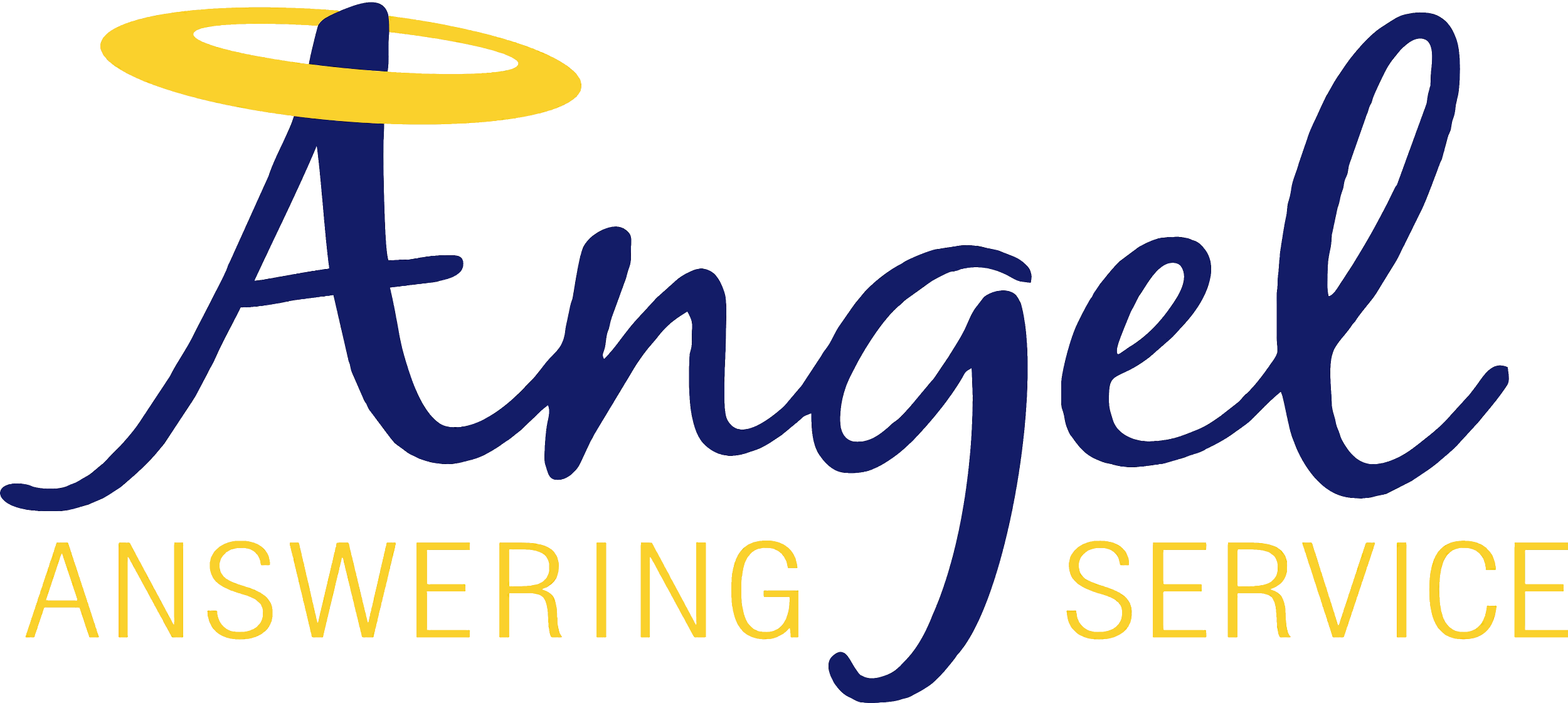 Angels logo png. Angel answering service let