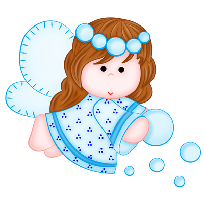 Cute blue picture gallery. Angel png clipart clipart free stock