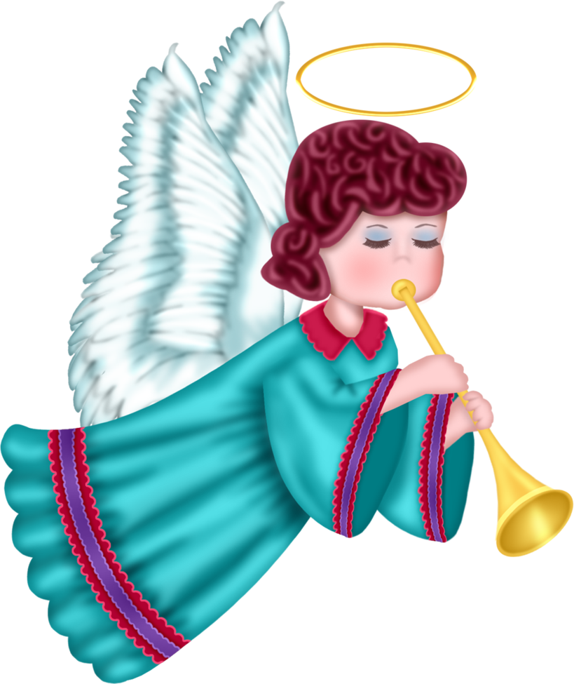 Cute with blue robe. Angel png clipart clip art library stock