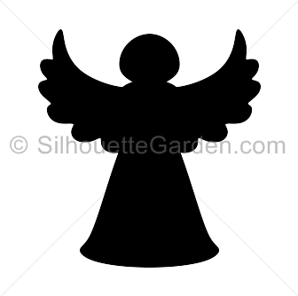 Angel silhouette png. Christmas tree